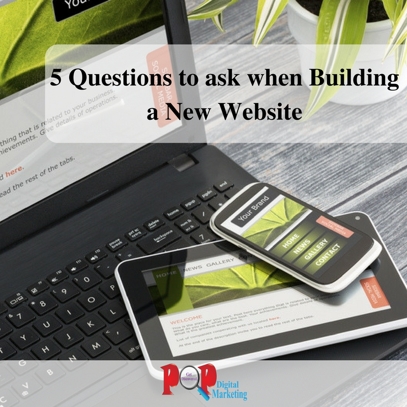 5 Questions to ask when Building a New Website